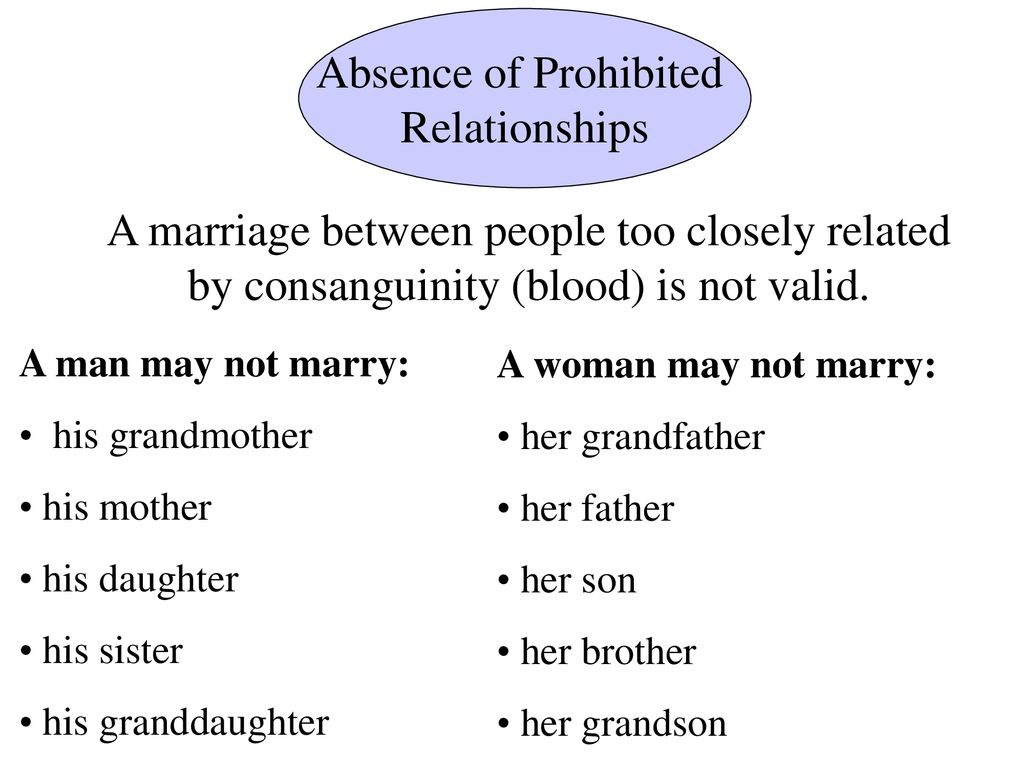 REQUIREMENTS OF MARRIAGE - ppt download
