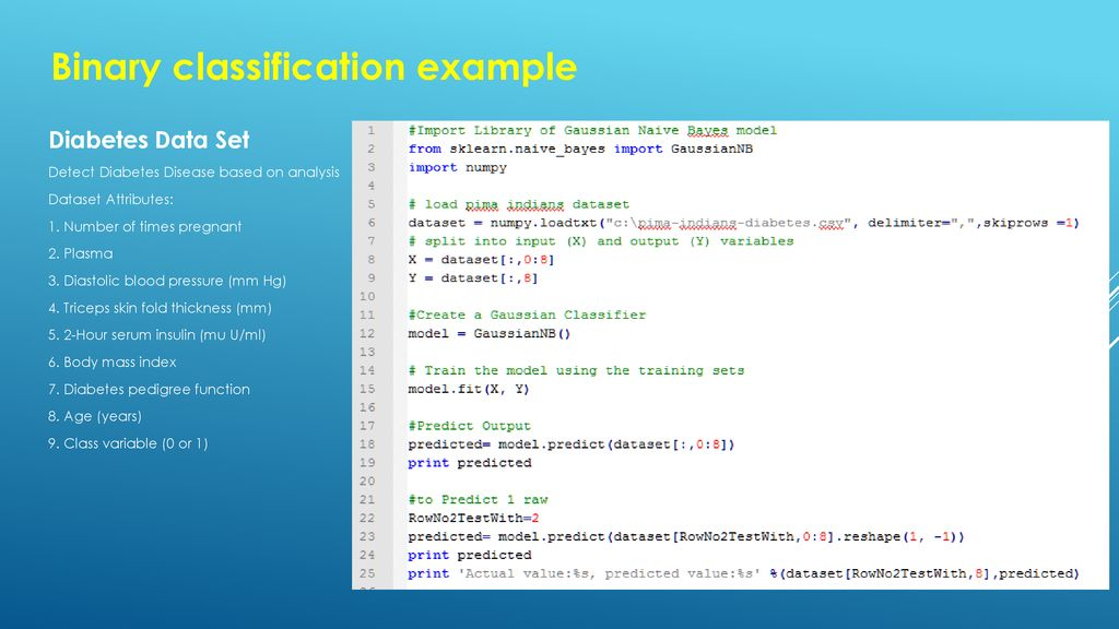 Develop Machine Learning using Python - ppt download