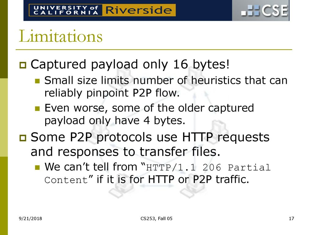 Transport Layer Identification of P2P Traffic - ppt download