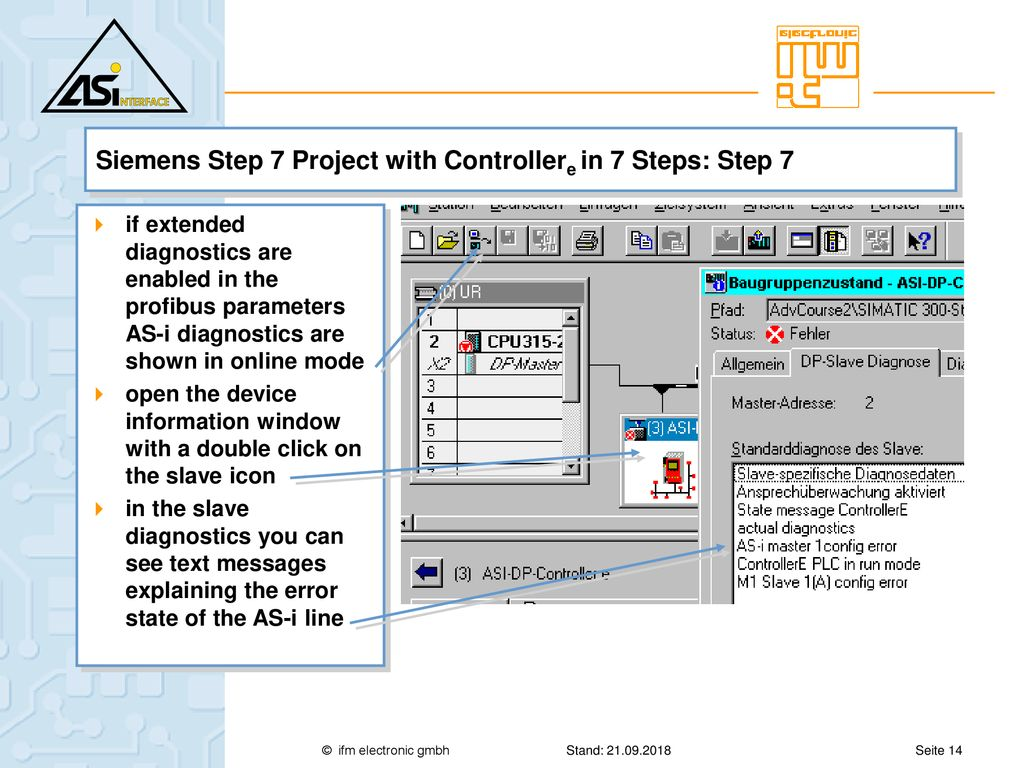 Siemens Step 7 Project with Controllere in 7 Steps: Step 1 - ppt