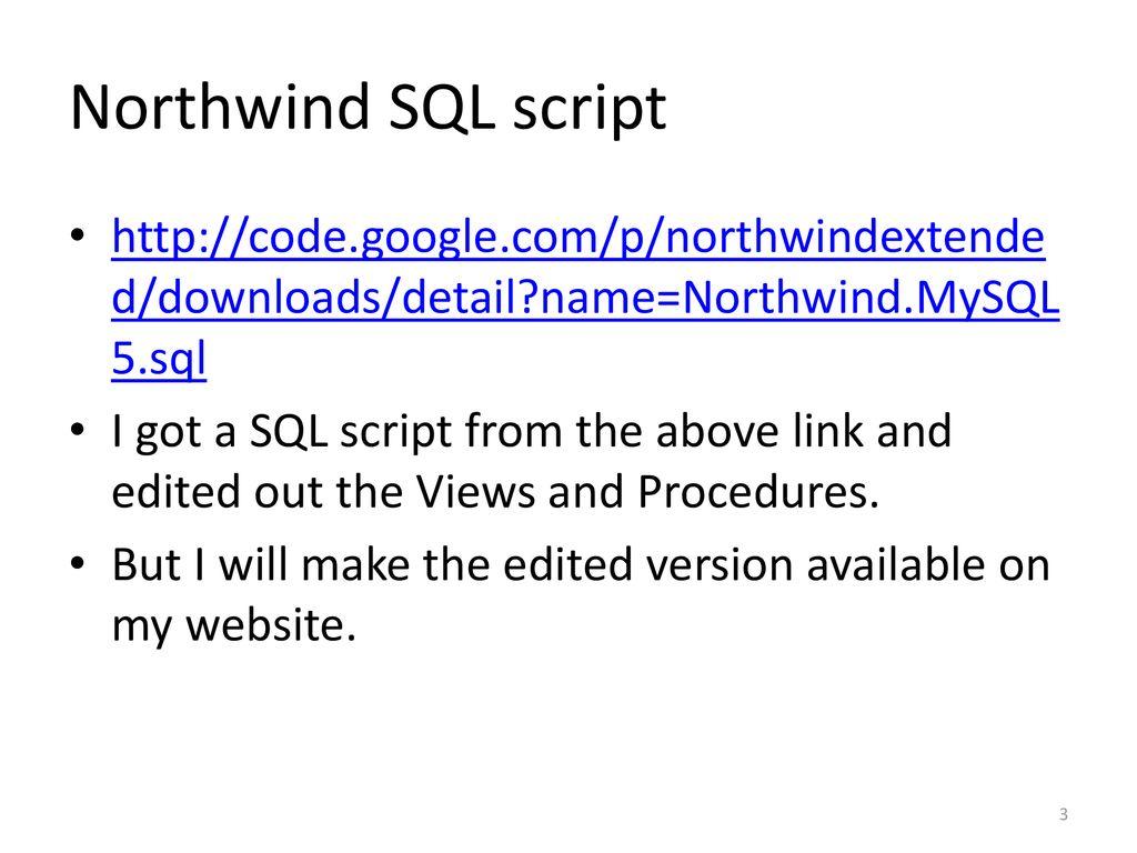 Northwind Database Mysql Download