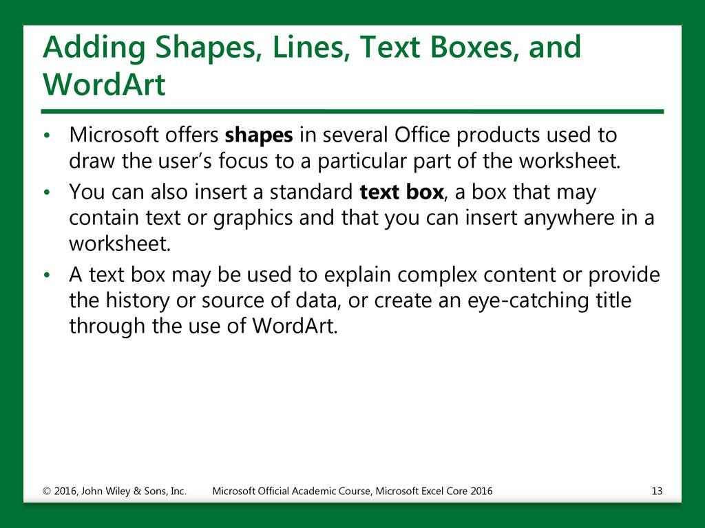 Adding Pictures and Shapes to a Worksheet - ppt download