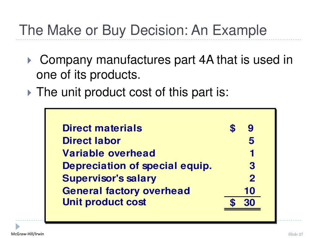 make or buy decision example