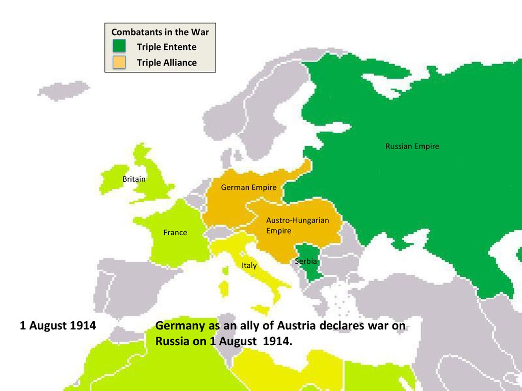 The alliance system before the first declaration of war ...