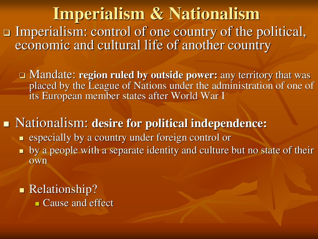 how are nationalism and imperialism related