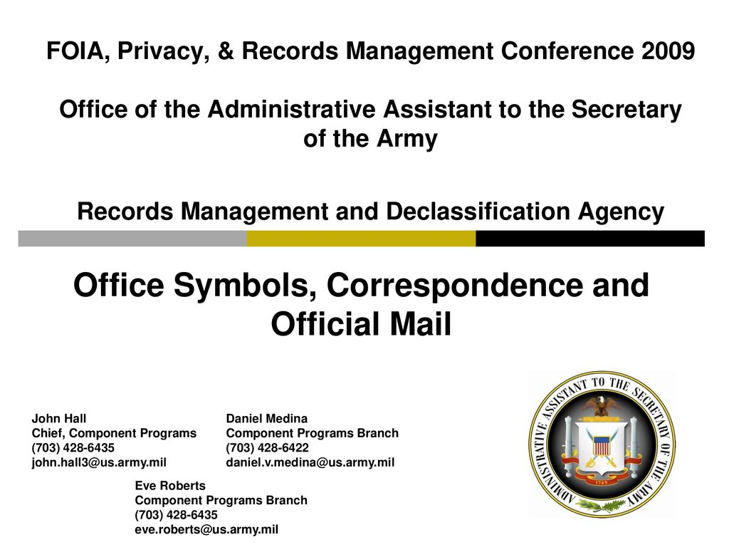 Office Symbols, Correspondence and Official Mail - ppt download