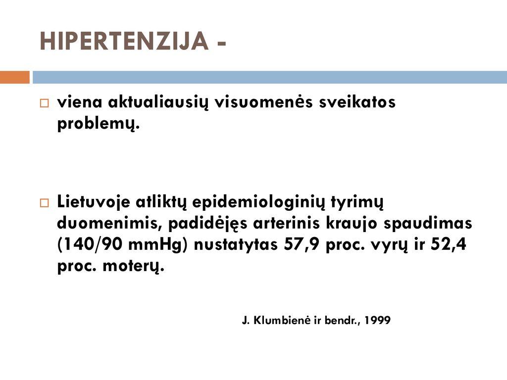 pirmą kartą hipertenzija)
