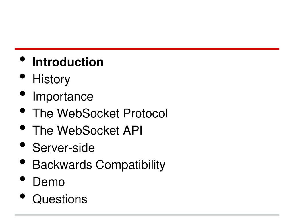 WebSocket: Full-Duplex Solution for the Web - ppt download