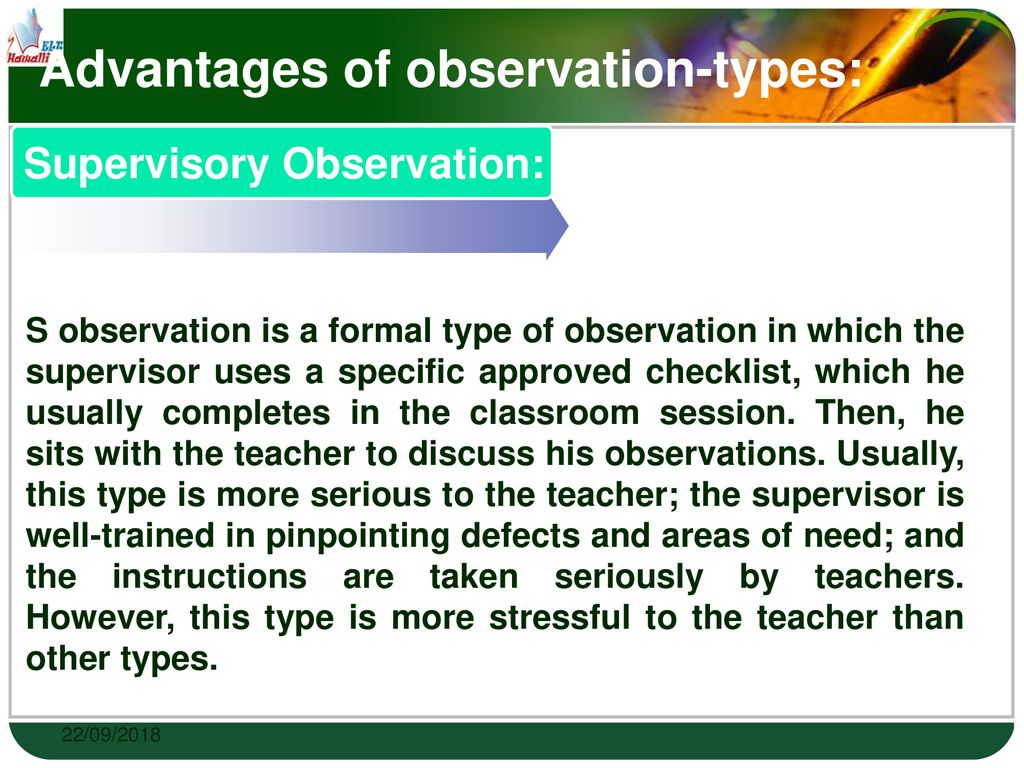 The Role of Classroom Observation - ppt download