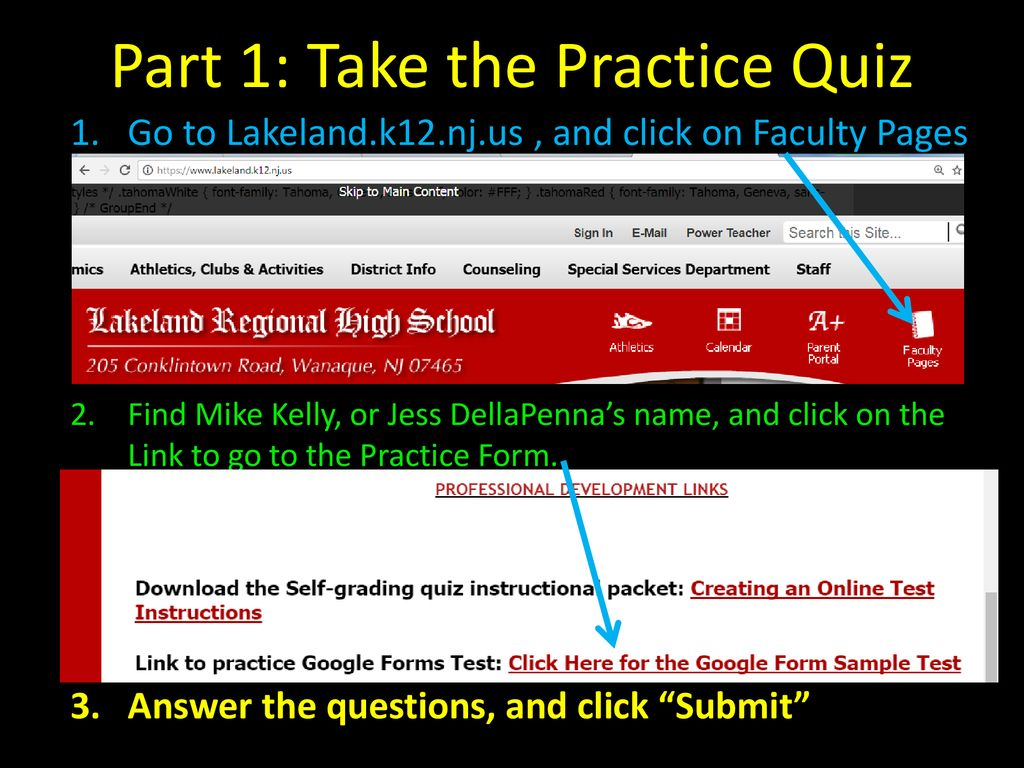 Creating a Self-Grading Assessment in Google Forms - ppt