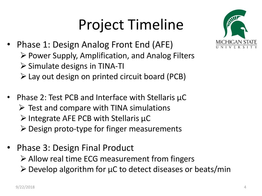 Design Team 3 Texas Instruments Contact Pete Semig Facilitator Circuit Simulation And Pcb With Tina Project Timeline Phase 1 Analog Front End Afe 5 Artist Layout Ti Spice