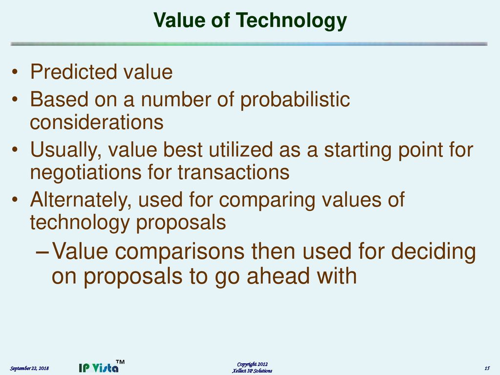 Principles of Intellectual Property (IP) Valuation - ppt