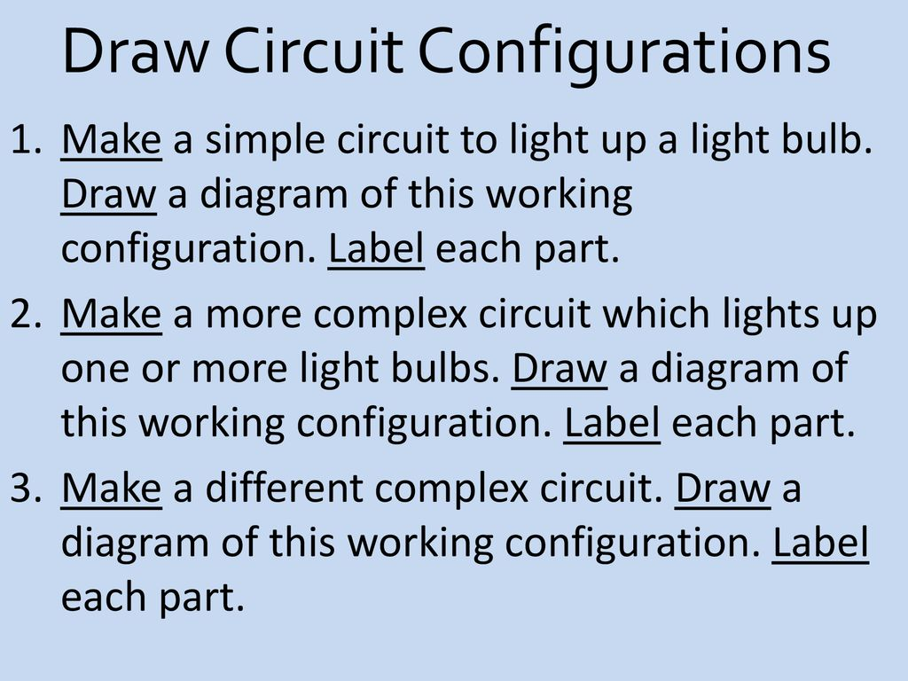 Circuits Electric A Complete Closed Path Through Which Circuit Diagram How To Draw Simple More 18 Configurations