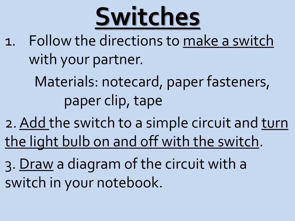 Circuits Electric A Complete Closed Path Through Which How To Make Simple Circuit With On Off Switch For Light Bulb 8 Switches