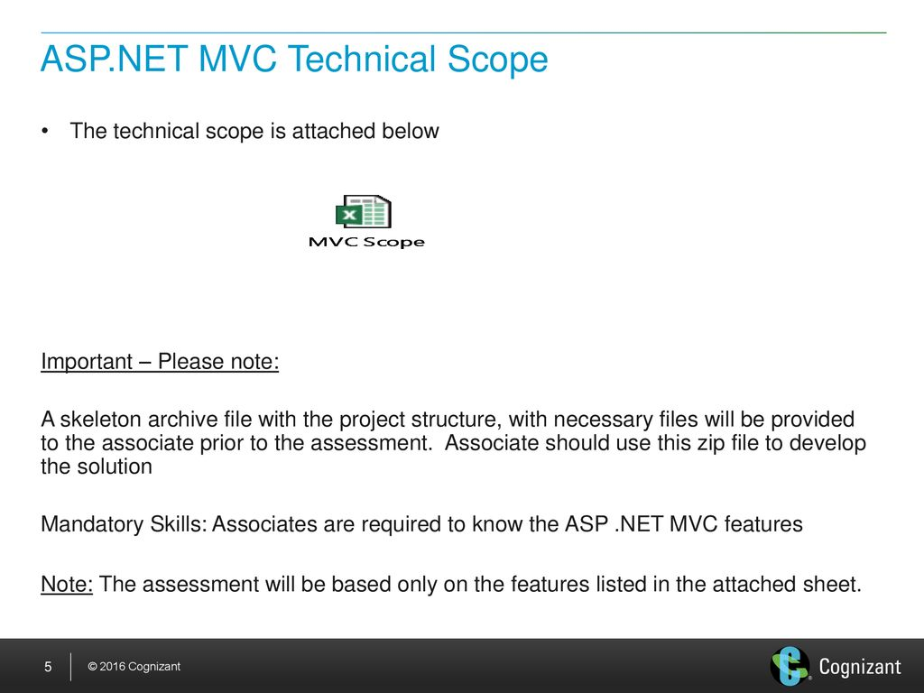 Skill Based Assessment - ASP NET MVC - - ppt download