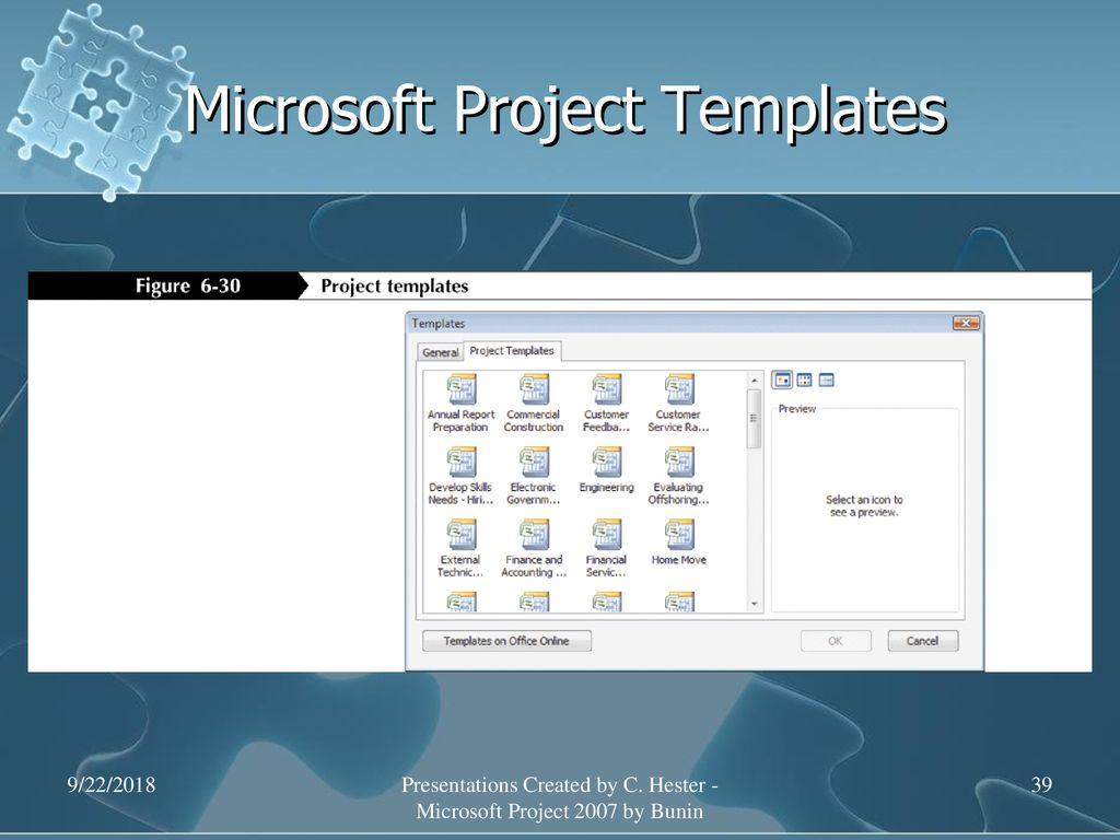 microsoft project 2007 templates