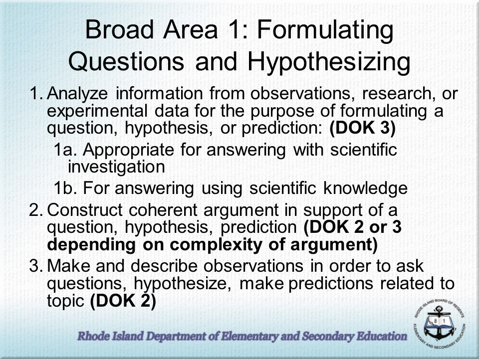 environment dok inquiry test questions