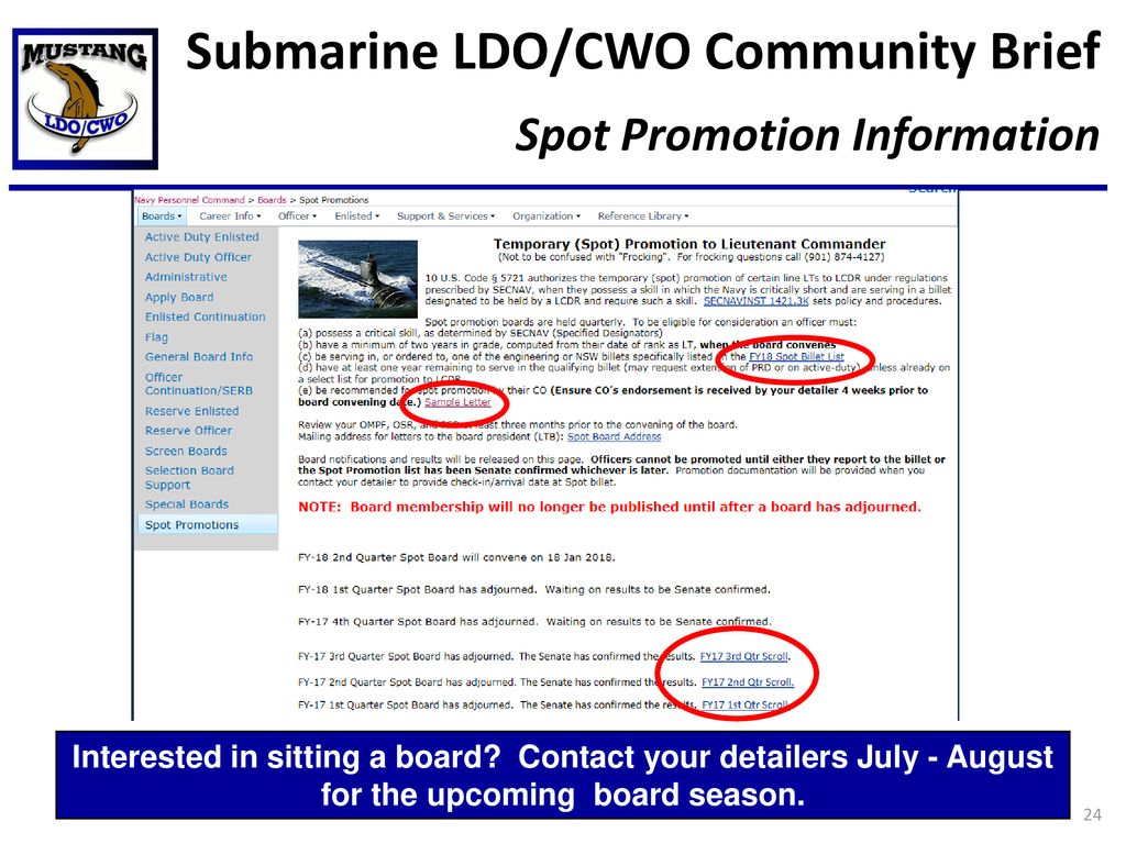 Submarine/Nuclear Power LDO/CWO Community Brief - ppt download