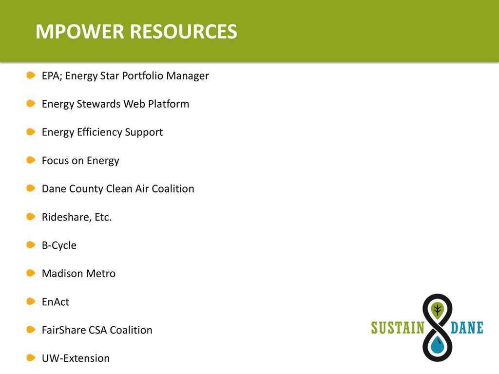 M Is For Mpowering Madison >> Sustainability Makes Cents Ppt Download