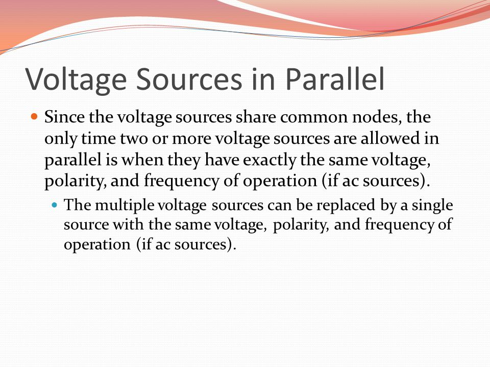 Voltage Sources in Parallel