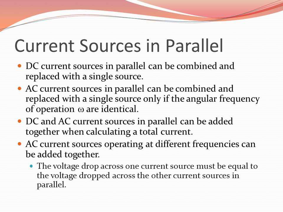 Current Sources in Parallel