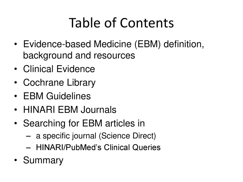 evidence-based practice resources for hinari users - ppt download
