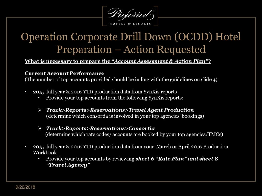 2017 Operation Corporate Drill Down (OCDD) - ppt download