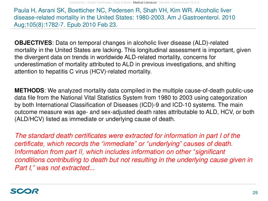 Multiple Cause of Death Data - ppt download