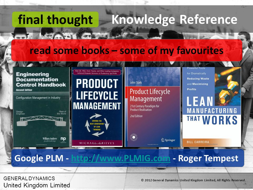 Knowledge Reference final thought
