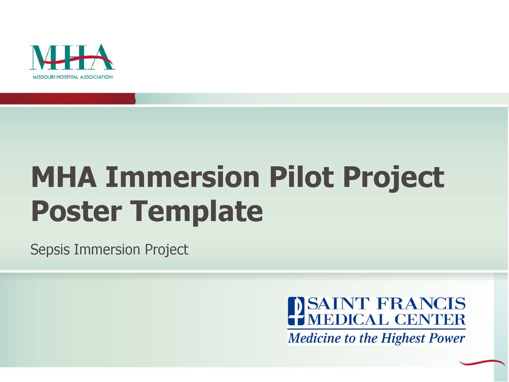 Mha Immersion Pilot Project Poster Template Ppt Download