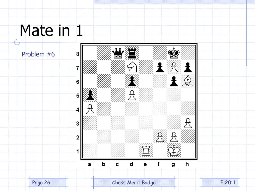 Chess Merit Badge Problems By Joseph L Bell Ppt Download Checkmate Diagram Puzzle From The 26 Mate In 1 Problem 6 2011
