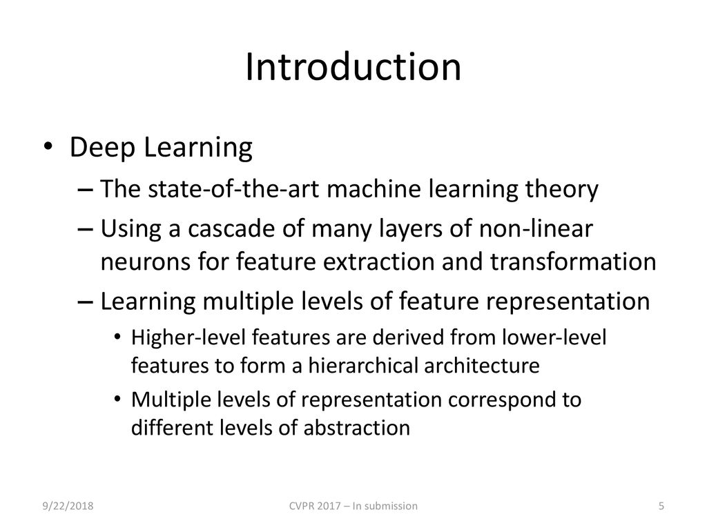 5 Introduction Deep Learning