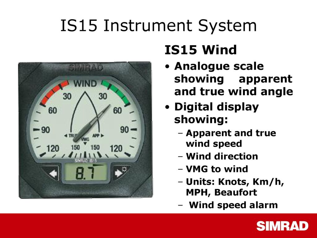 Simrad IS15 Instrument System - ppt download