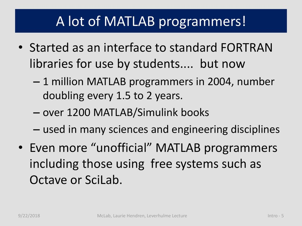 McLAB: Compiler Tools for MATLAB - ppt download