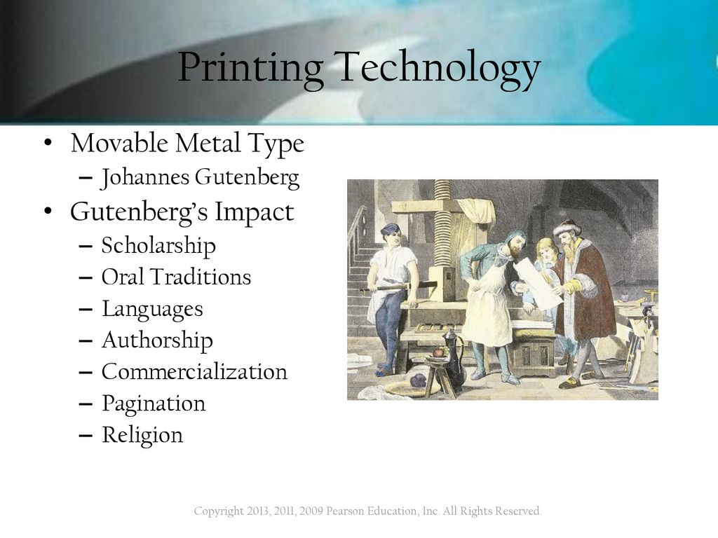The Media Of Mass Communication 11th Edition John Vivian Ppt Download Johannes Gutenberg Printing Press Diagram 5 Technology Movable Metal Type Gutenbergs Impact