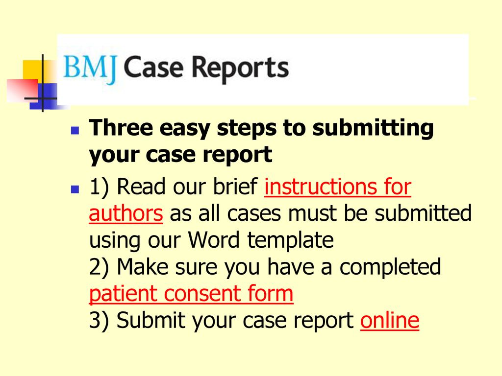 Three easy steps to submitting your case report