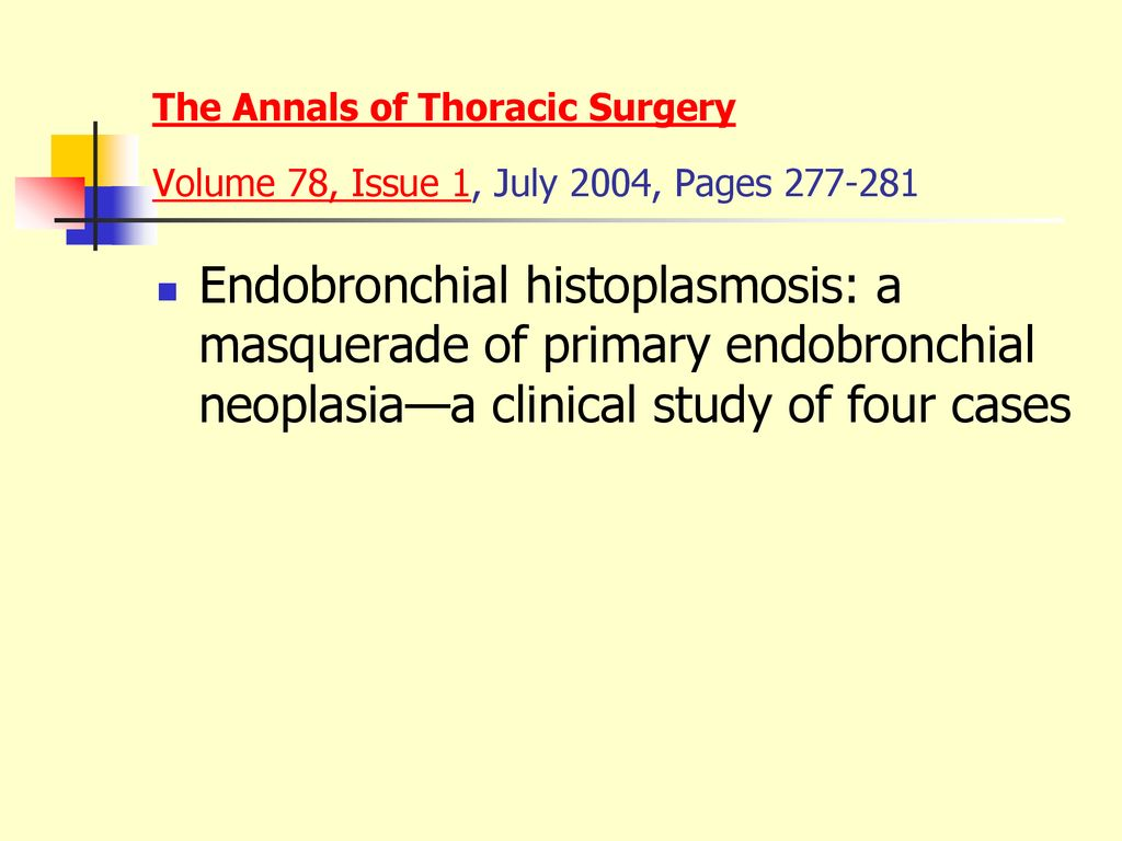 The Annals of Thoracic Surgery Volume 78, Issue 1, July 2004, Pages