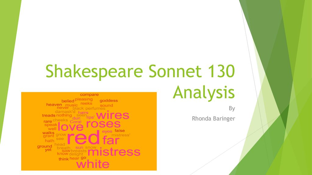 shakespeare sonnet 130 imagery