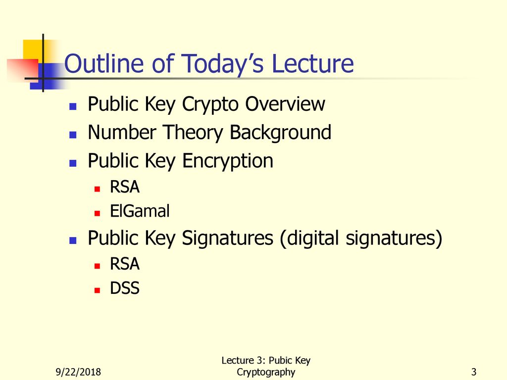 Lecture 3: Public Key Cryptography - ppt download