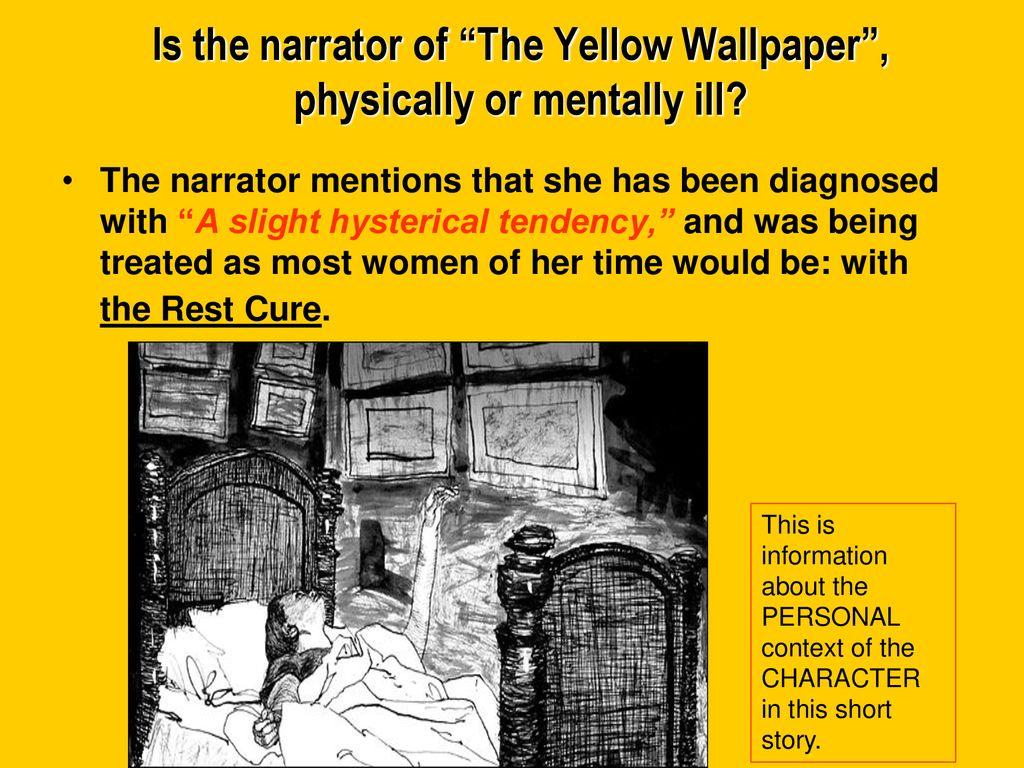 the rest cure in the yellow wallpaper