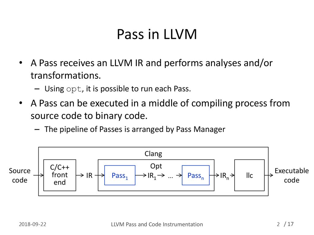 LLVM Pass and Code Instrumentation - ppt download