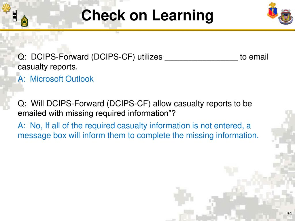dcips critical thinking examples