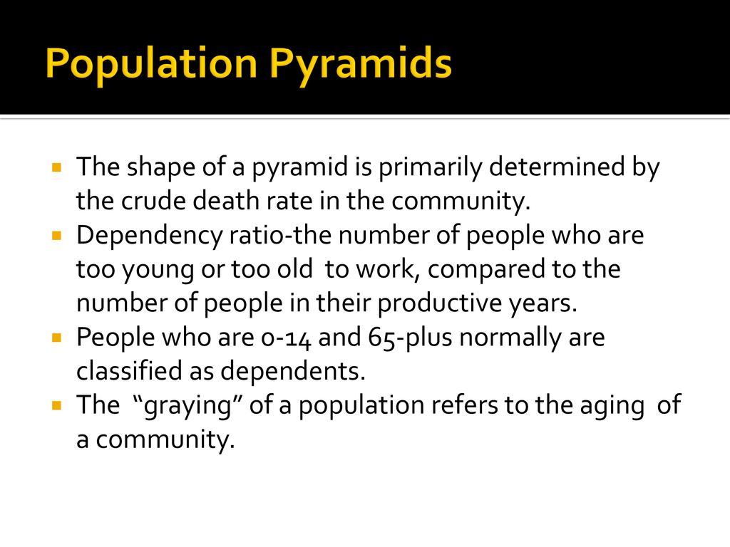 what does the graying of a population refer to