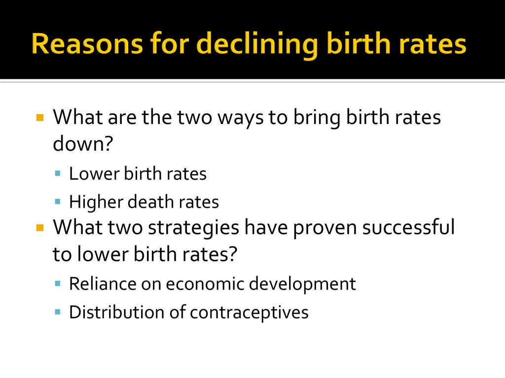 what two strategies have proven successful to lower birth rates