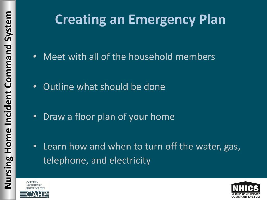 Nursing Home Incident Command System Ppt Download How To Shut Off Your Electricity In An Emergency Creating Plan