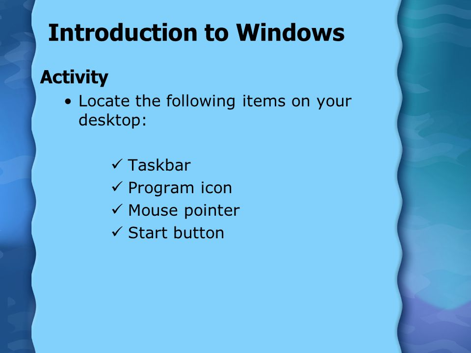 Introduction to Windows