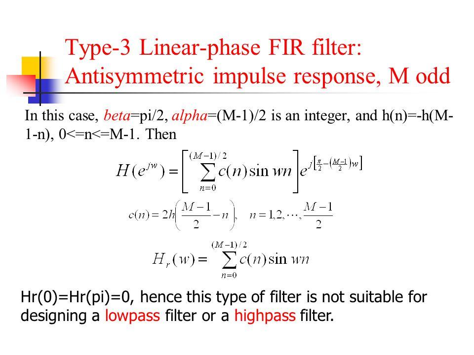 Chapter 8  FIR Filter Design - ppt video online download
