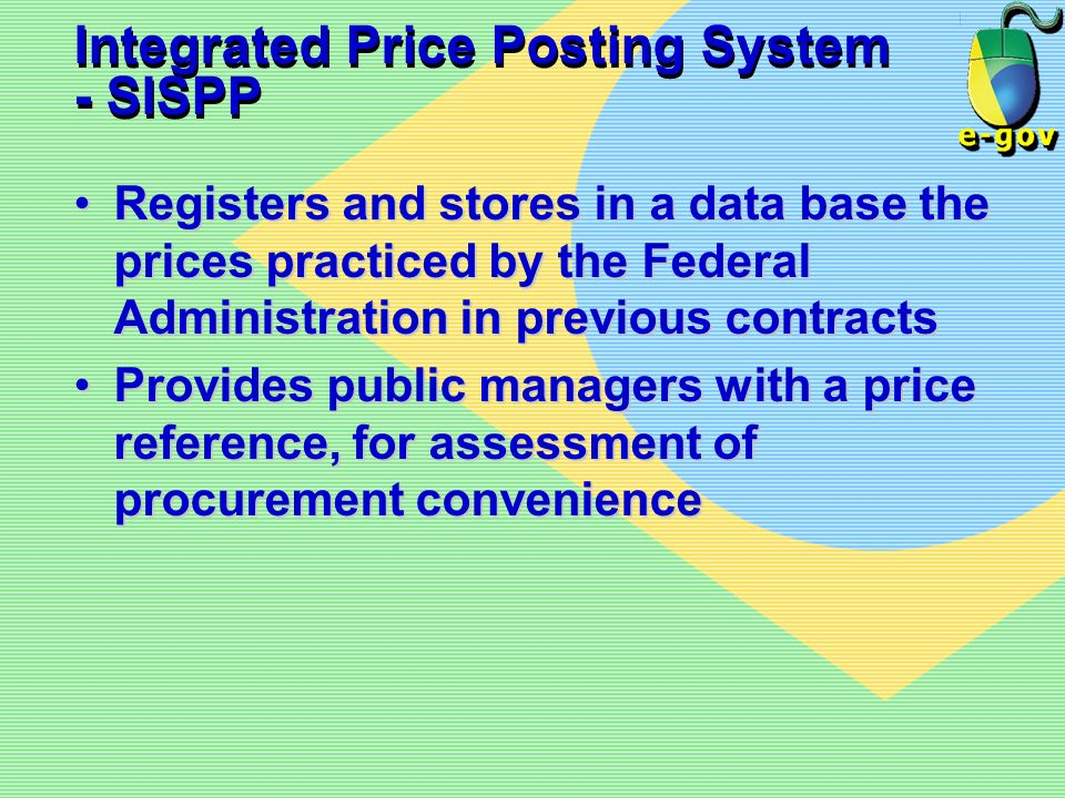 Integrated Price Posting System - SISPP