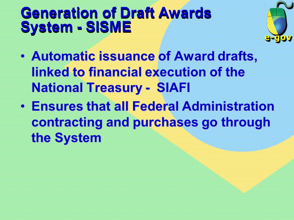 Generation of Draft Awards System - SISME