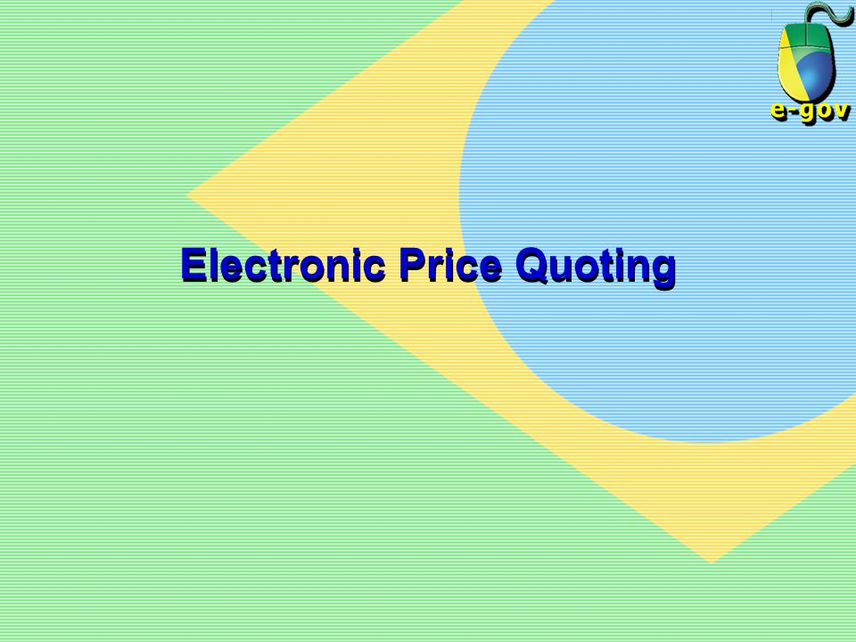 Electronic Price Quoting